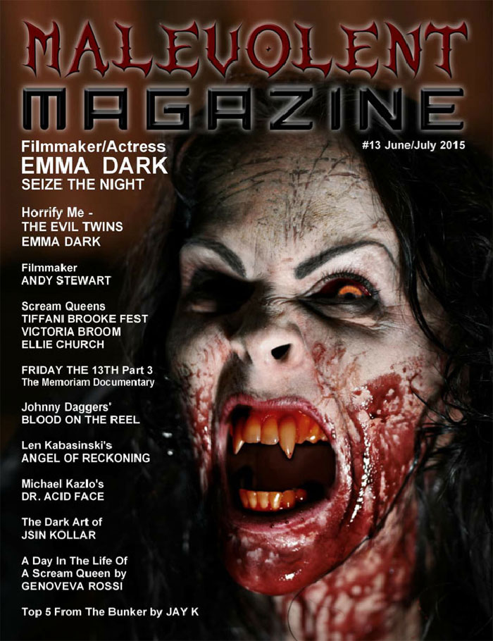 Click to buy print - Malevolent Magazine issue 13 front cover
