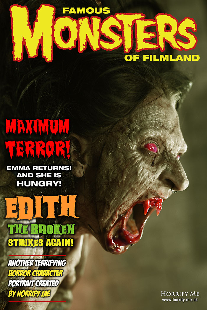 Click to buy print - Famous Monsters Cover with Emma