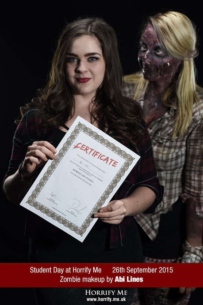 Click to buy print - Horrify Me Zombe Makeup Training Day - Abi 1