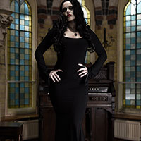 Morticia at Home