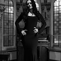 Morticia at Home BW