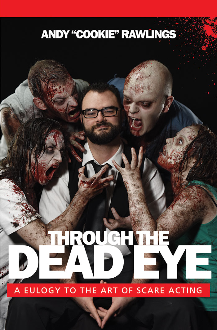 Click to buy print - Through the Dead Eye - Book by Andy Rawlings with our cover photo and design