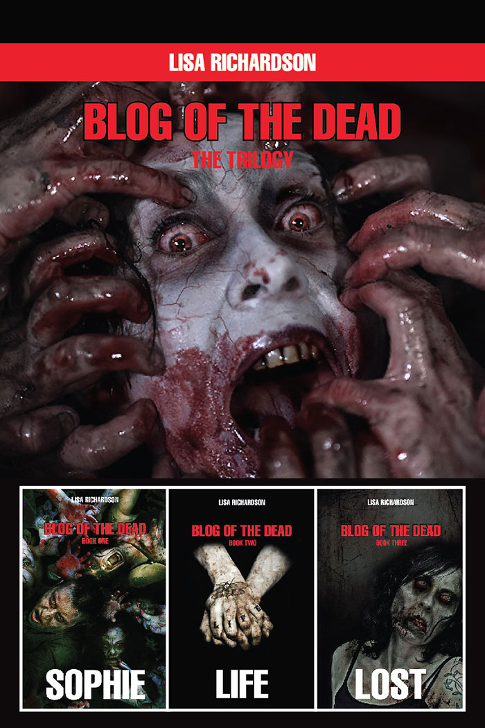 Click to buy print - Blog of the Dead - Box Set by Lisa Richardson with our cover design