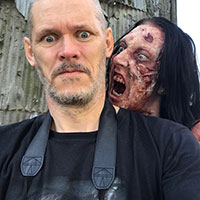 BTS - Zombie Makeup Tuition Demo - Emma Being Scary