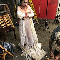 BTS Bride of Frankenstein 11 - Preparing the Dress