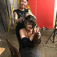 BTS Bride of Frankenstein 12 - After Shoot Hair Rescue