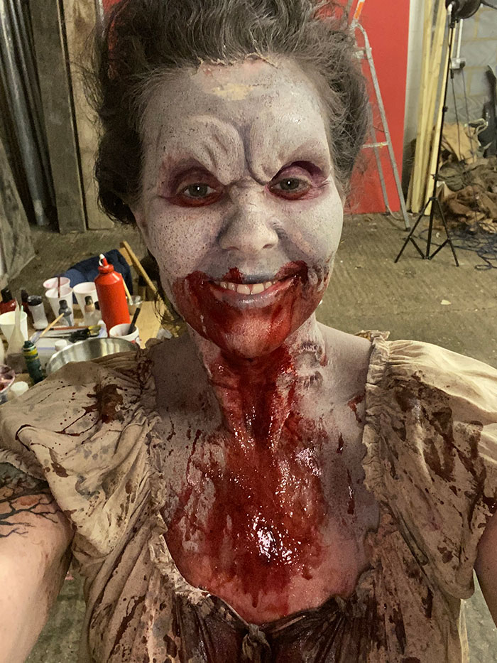 Click to buy print - 08 BTS - Isabella the Vampyre - Bloody Mess