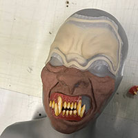 BTS Nazi Werewolf 02 - Early Stage Sculpture with Teeth