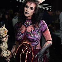 Bodypaint by Kae Chambers at Horror Con 2019