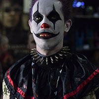 Evil Clown at Horror Con 2019