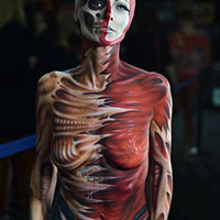 Bodypaint by Sarah Smith at Horror Con 2019