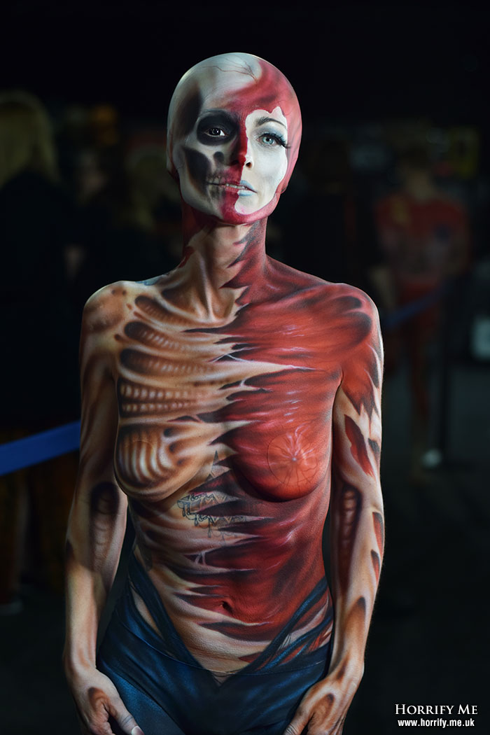 Click to buy print - Bodypaint by Sarah Smith at Horror Con 2019