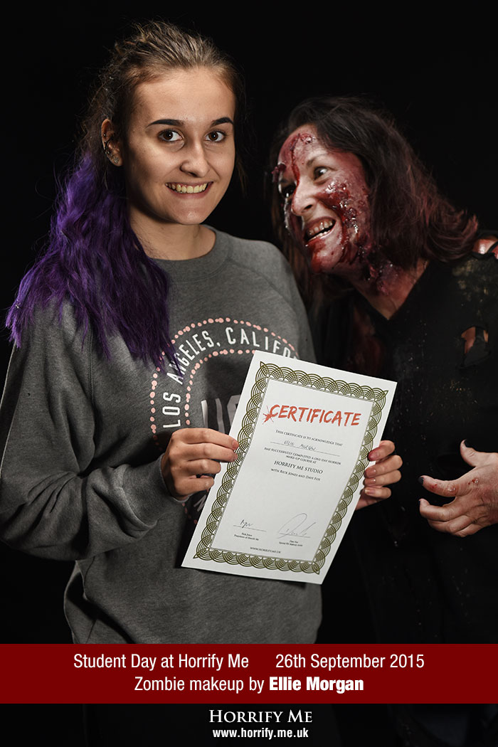 Click to buy print - Horrify Me Zombe Makeup Training Day - Ellie 1