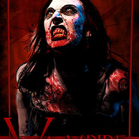 Woman Scorned Vampire Pop Art Style