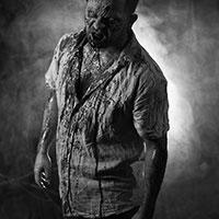 Lurking Zombie BW