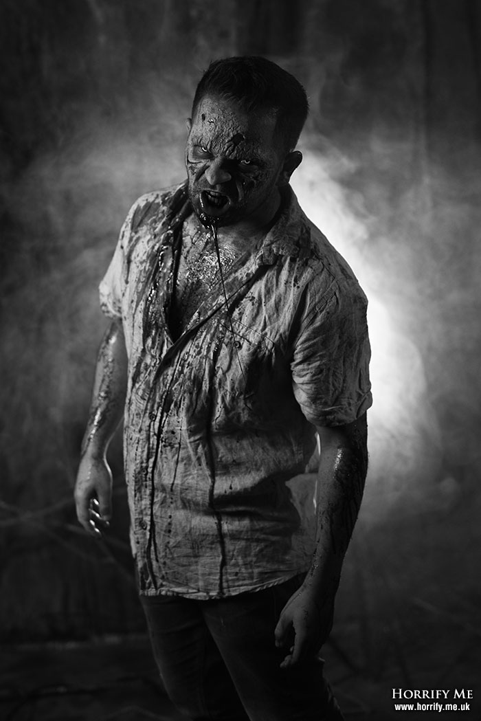 Click to buy print - Lurking Zombie BW