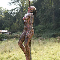 Cannibal Holocaust Impaled Girl - 11b