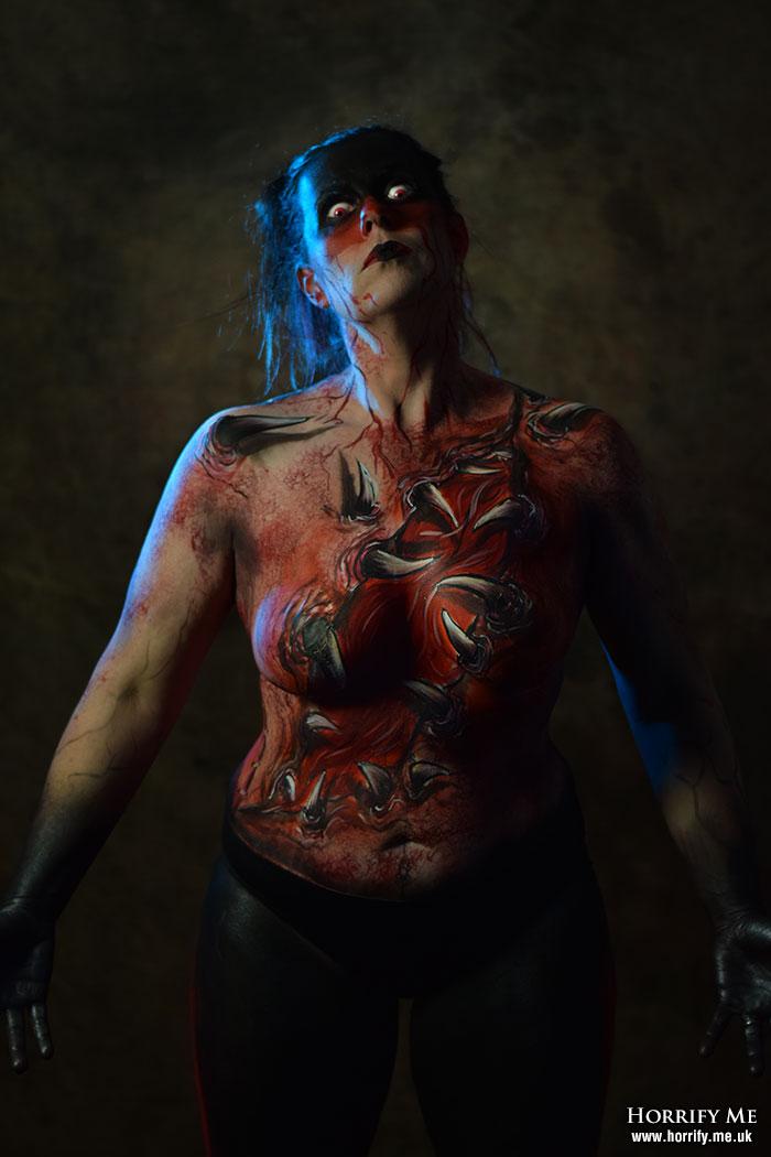 Click to buy print - Horror Con Body Painy by Kae