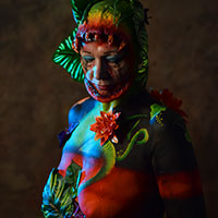 Horror Con Body Paint by Kellie