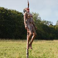 Cannibal Holocaust Impaled Girl - 03