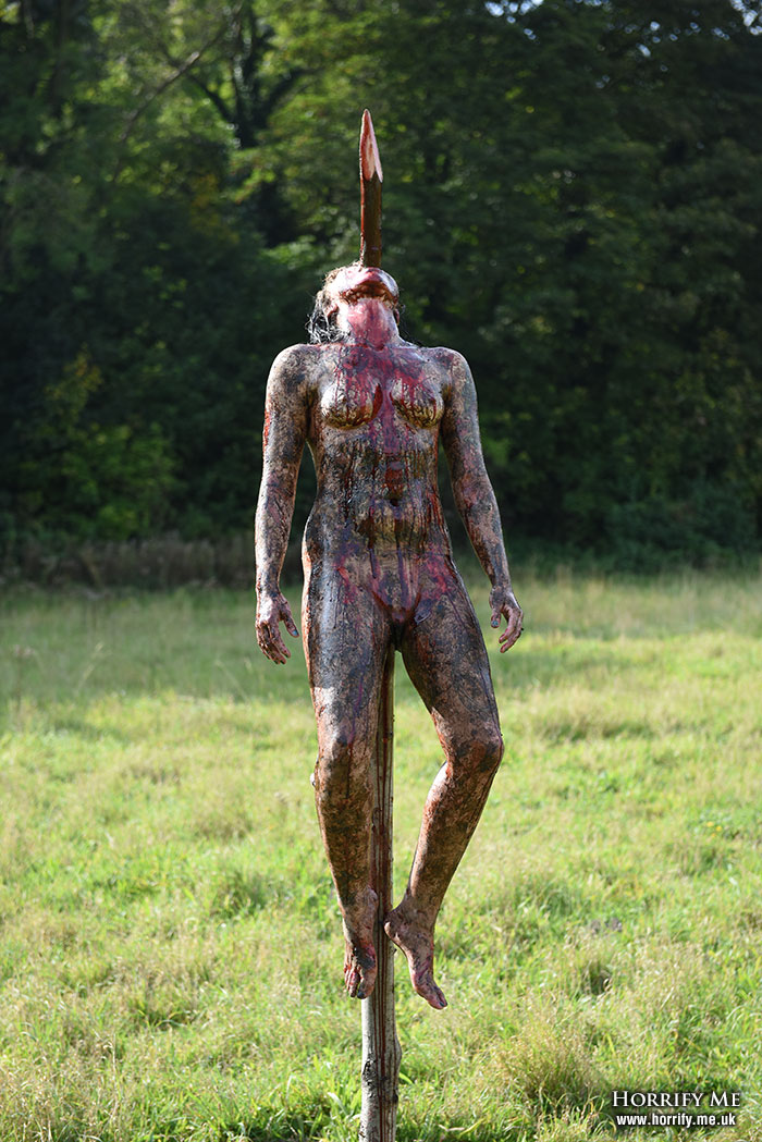Click to buy print - Cannibal Holocaust Impaled Girl - 04