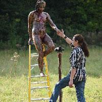 Impaled Girl Behind Scenes
