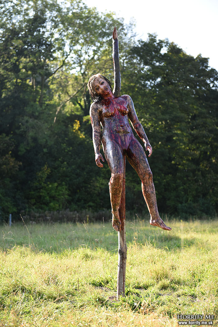 Click to buy print - Cannibal Holocaust Impaled Girl - 12 - Alternative Version