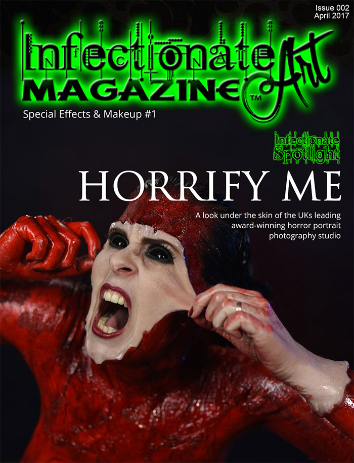 Click to buy print - Infectionate Art Magazine Issue 2 front cover and main feature