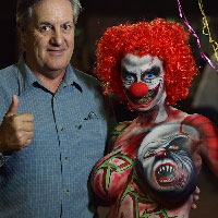 Clown by John Jones with David Naughton at HorrorCon 2016