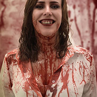 Jodie Covered in Blood