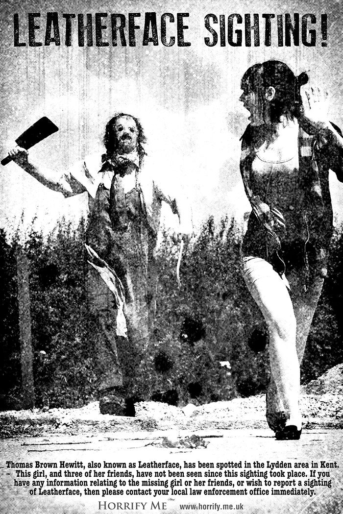 Click to buy print - 02 - Title - Leatherface Sighting