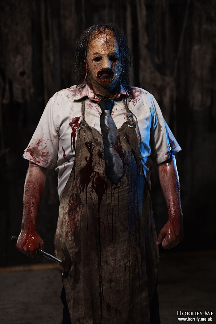 Click to buy print - Exhibit D2 - Leatherface with Hammer