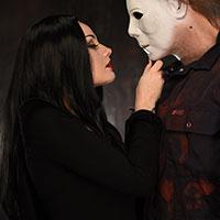 Michael and Morticia
