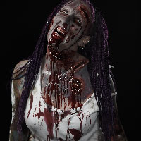 Horrify Me Zombe Makeup Training Day - Nikki 2