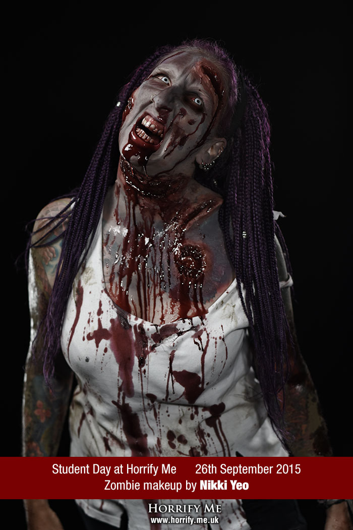 Click to buy print - Horrify Me Zombe Makeup Training Day - Nikki 2