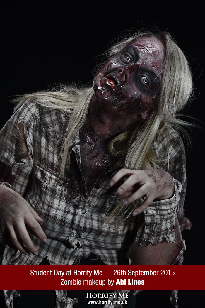 Click to buy print - Horrify Me Zombe Makeup Training Day - Abi 2
