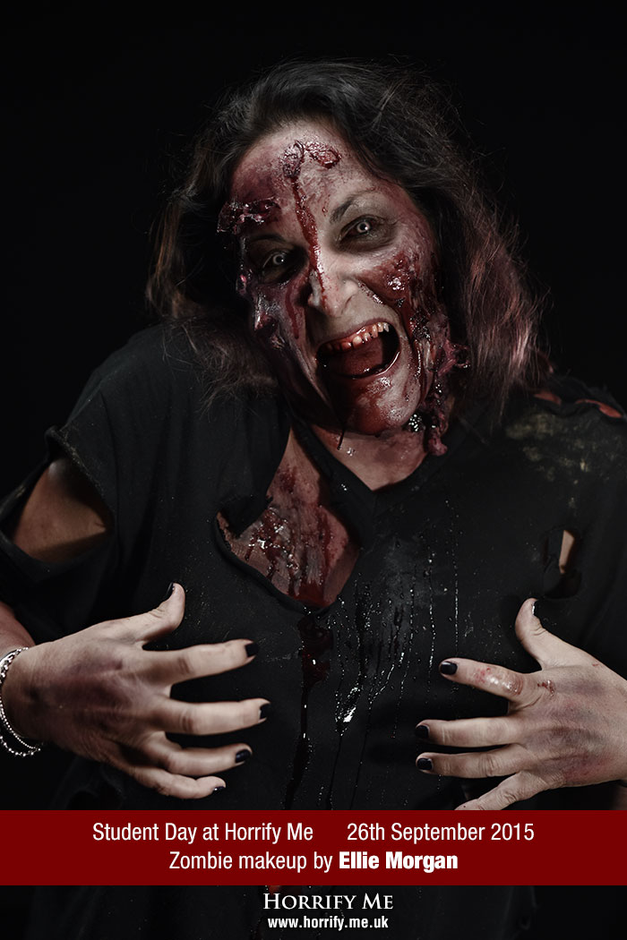 Click to buy print - Horrify Me Zombe Makeup Training Day - Ellie 2
