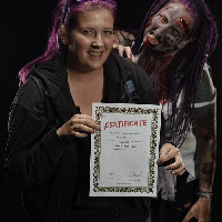 Horrify Me Zombe Makeup Training Day - Nikki 1