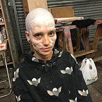 Nosferatu BTS 02 - Face Prosthetics