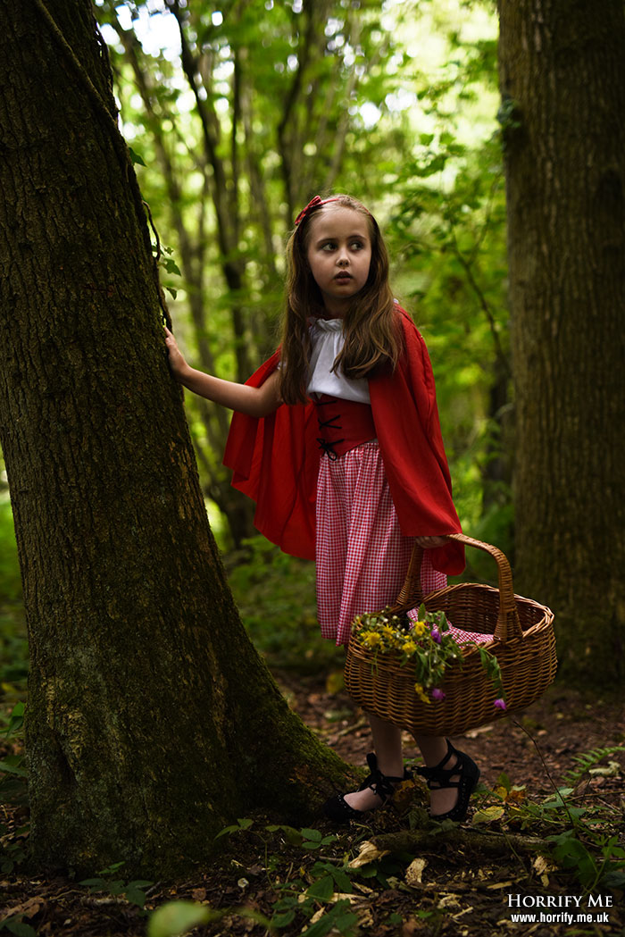 Click to buy print - Red Riding Hood and the Big Bad Wolf 04 - She Heard a Sound