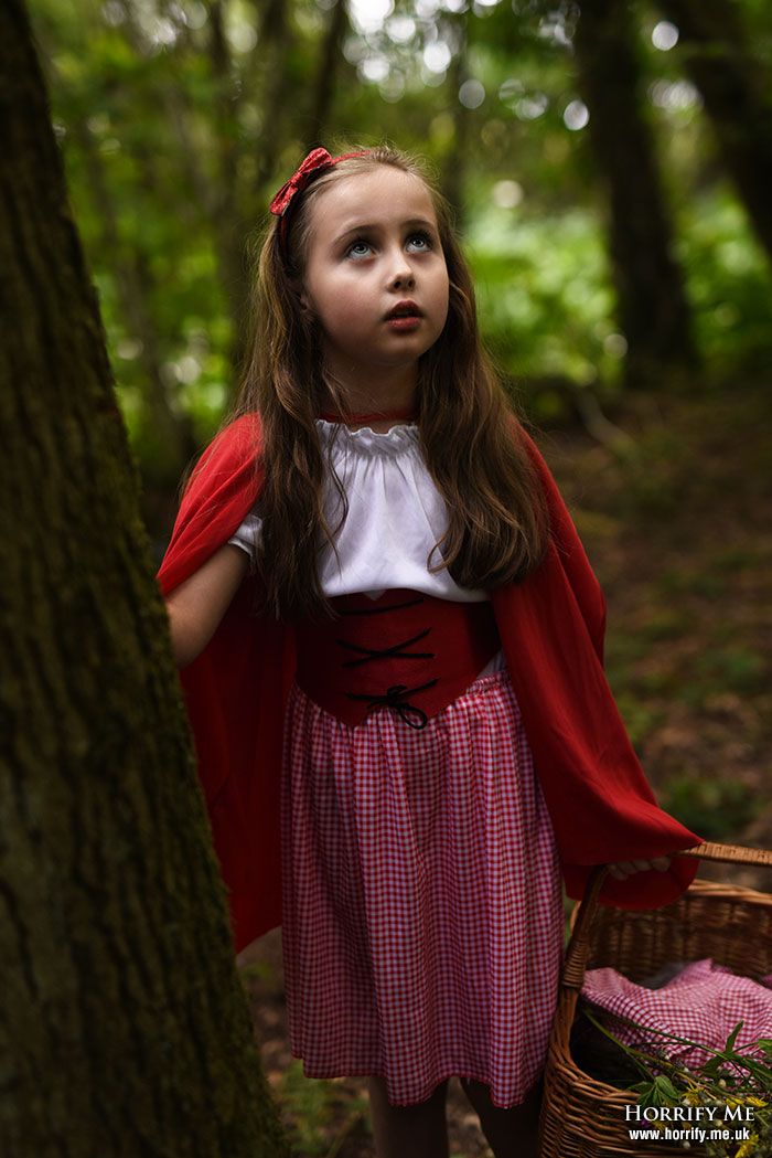 Click to buy print - Red Riding Hood and the Big Bad Wolf 07 - Afraid of the Sounds