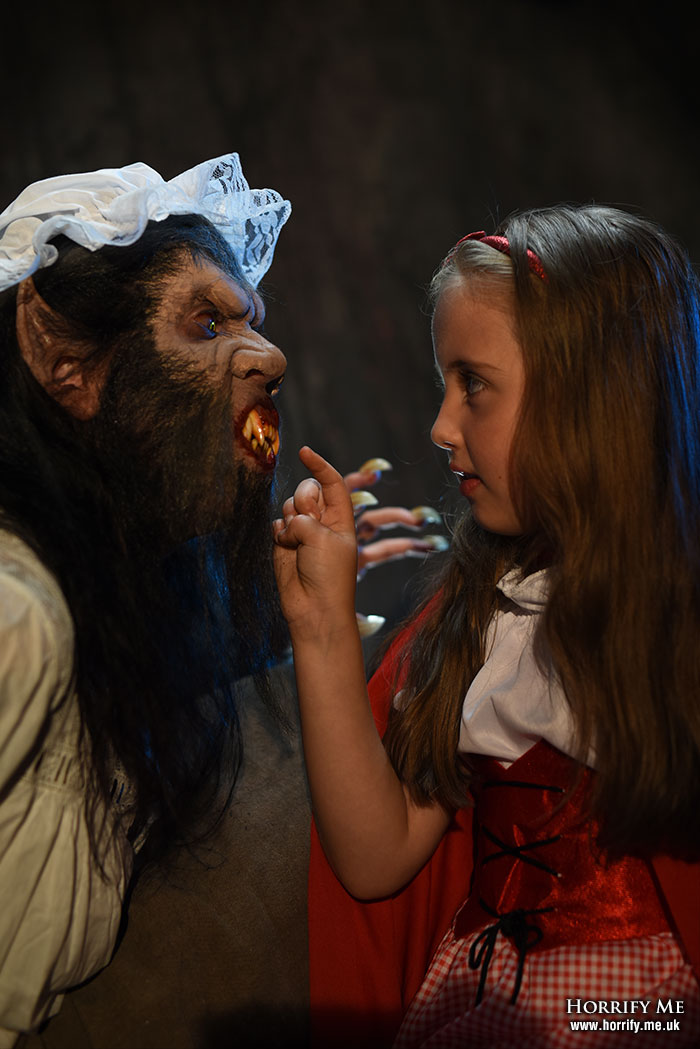 Click to buy print - Red Riding Hood and the Big Bad Wolf 17 - What Big Teeth You Have