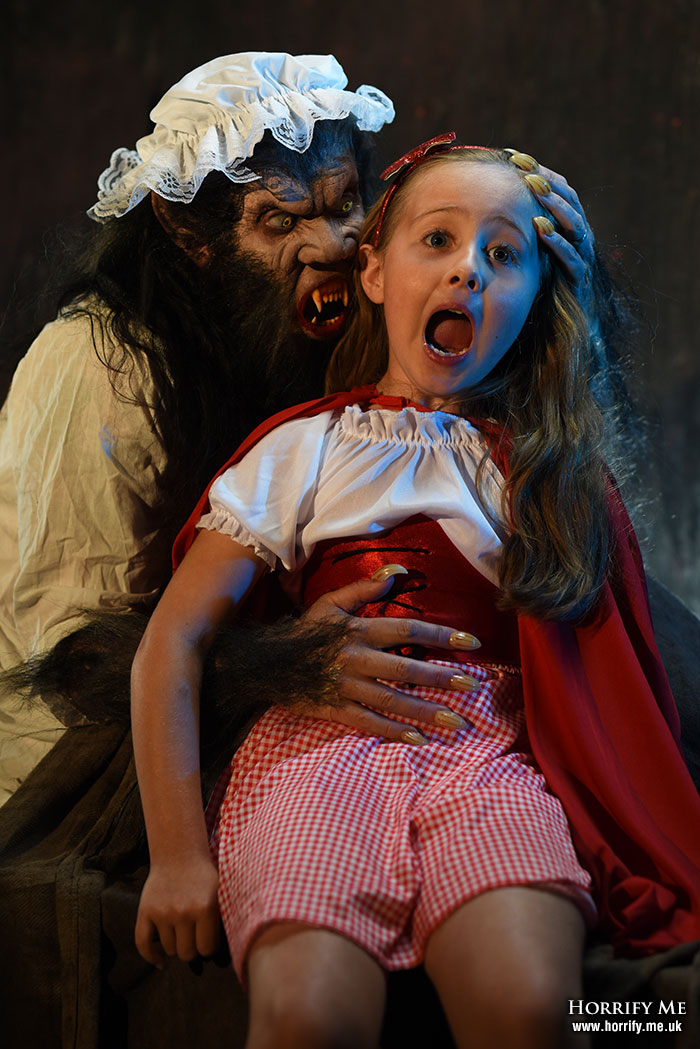 Click to buy print - Red Riding Hood and the Big Bad Wolf 18 - All The Better To Eat You With