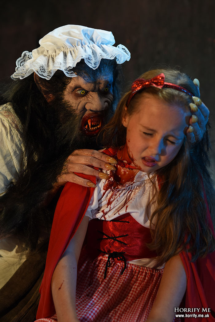 Click to buy print - Red Riding Hood and the Big Bad Wolf 19 - The Wolf has Tasted Blood