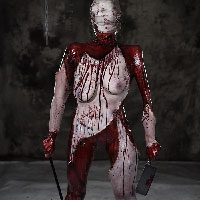 Hellraiser skinned flayed body peeled muscle demon