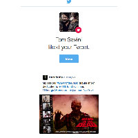22 - Tom Savini liked our photos