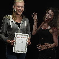 Horrify Me Zombe Makeup Training Day - Yasmin 1