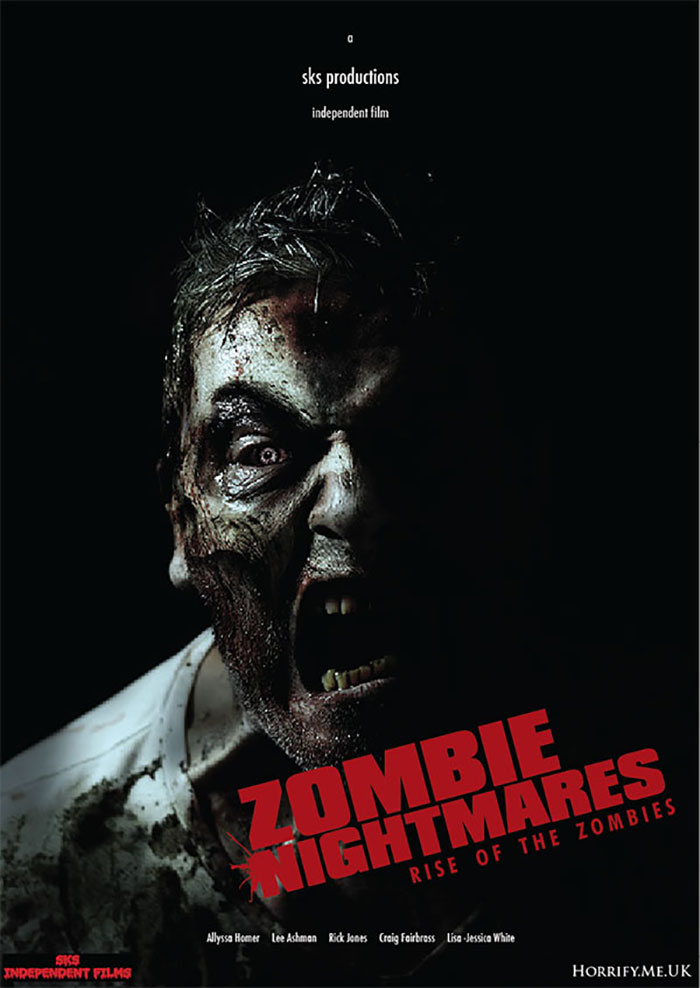 Click to buy print - Zombie Nightmares - indie film promo poster